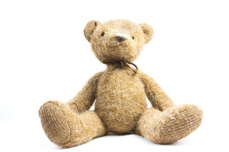 teddy bear: lindo osito de peluche, aislado sobre fondo blanco Foto de archivo