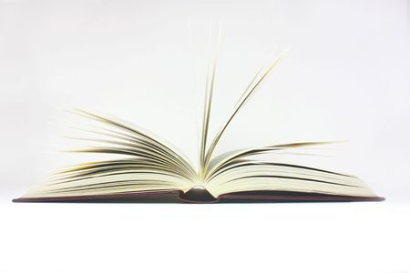 open book shot on a white background Stock Photo - 5900221