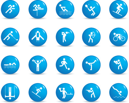 runing: sports figure icon character set in different positions