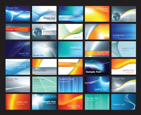 personalausweis: Visitenkarte-Vorlagensatz mit Beispiel-Text-layouts