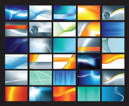 Collection of abstract corporate business cards Vector
