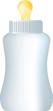 bottle feeding: Ilustraci�n de un beb� en la alimentaci�n de la botella de leche