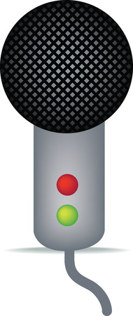 microphone illustration close up on a white background Vector