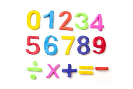 play time: numbers made from play doh, making childrens number shapes