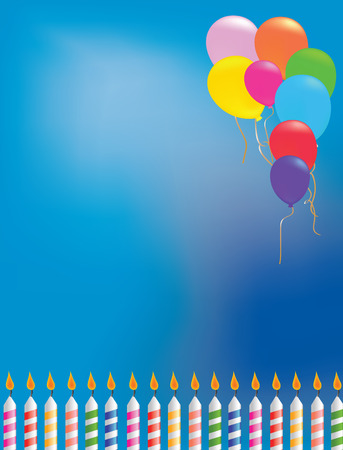 vector illustration of a Balloon birthday background Vector