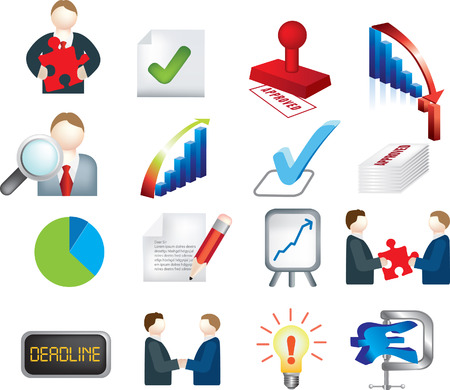 vector illustration of a business deals images Vector