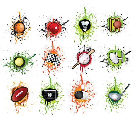 selection of sports icons in a grunge style Stock Vector - 6286561