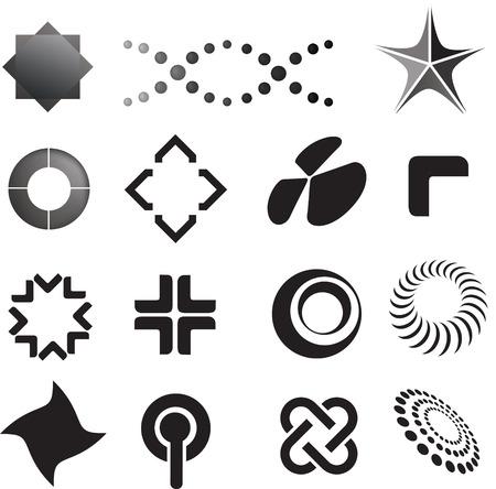 logotipos de empresas: selecci�n de iconos de logotipo en un estilo de l�nea moderna
