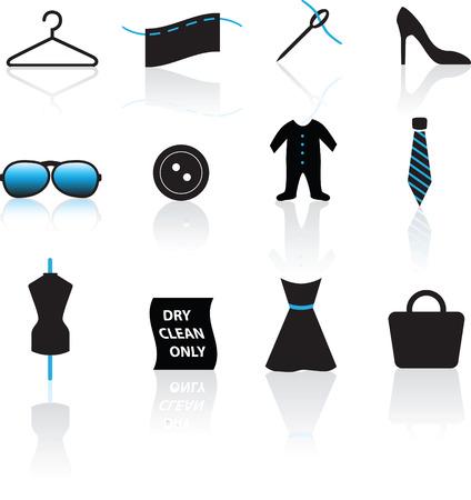 illustratie van een set van mode en kleding pictogrammen