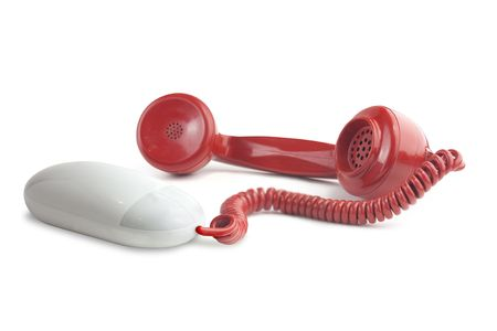 high resolution visual to illustrate the idea of internet phone calls or VOIP, Voice over internet protocol. photo