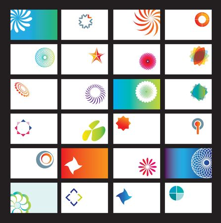 carte de visite vierge: mod�les de carte de visite vide comme illustration vectorielle