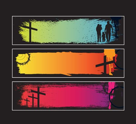 christ: Website banners with space left for message Illustration