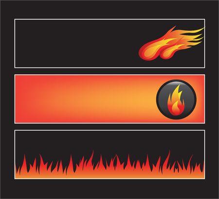 burn out: Website banners met ruimte over voor bericht Stock Illustratie