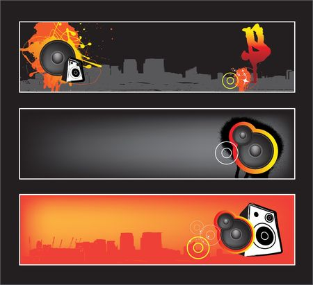 grafitti: Website banners with space left for message Illustration