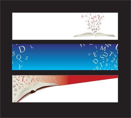 art book: Banners de Web con espacio para el mensaje