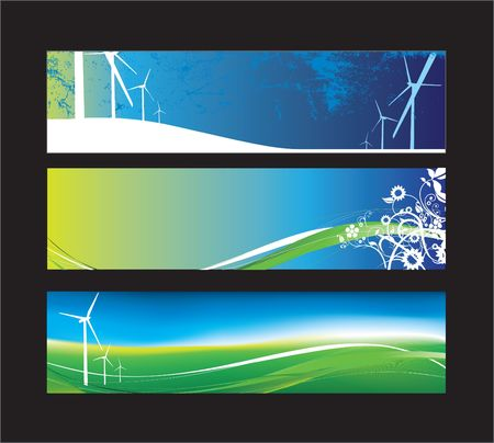 turbines: Website banners with space left for message Illustration