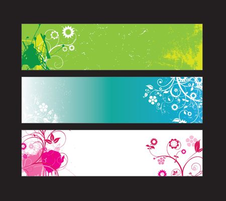 Website banners with space left for message Vector