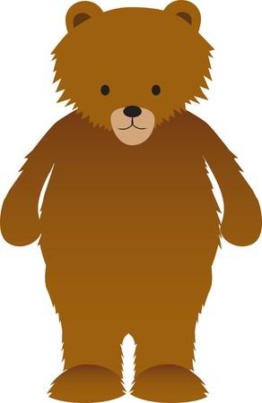 cartoon illustration of a cute brown bear Stock Vector - 6939646