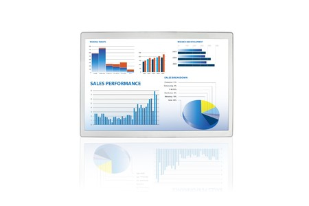 selection of financial and economic graphs on a screen Stock Photo - 6967796