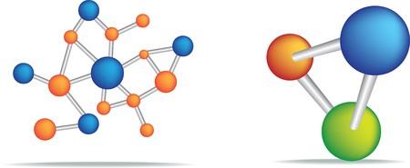 protons: Ilustraci�n de la ciencia de un conjunto de celdas en blanco  Vectores