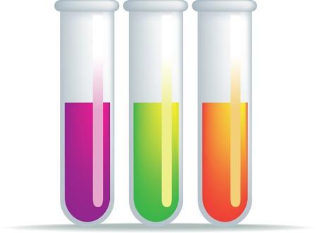 symbole chimique: illustration simple d'un ensemble de tubes � essai Illustration