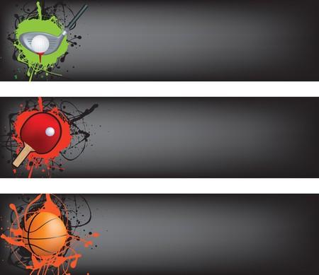 banni�re football: illustration couleur du style de grunge banni�re Sports web