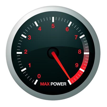 compteur de vitesse: Dial Speedo ou la vitesse de la voiture ou le pouvoir Illustration