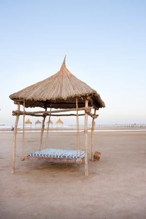 el sheikh: Swing beach shelter in sharm el sheikh, egypt Stock Photo