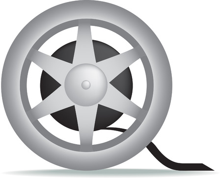illustration of a mivie cinema film reel isolated on a white background Vector