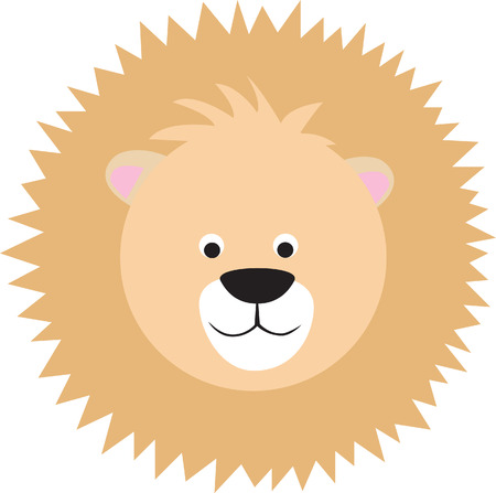 cute animal colour illustration on white background Vector