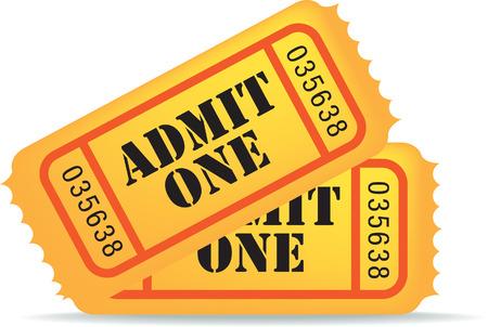 communicate  isolated: illustration of a cinema ticket on white background