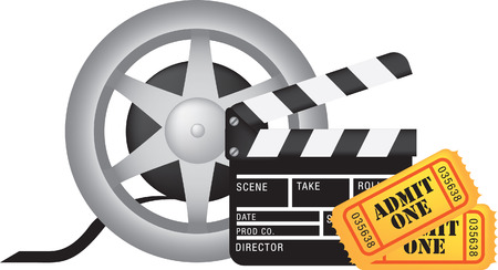 movie film: movie, film and cinema, entertainment colour illustration