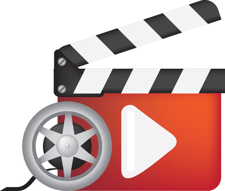 movie, film and cinema, play icon. full colour illustration