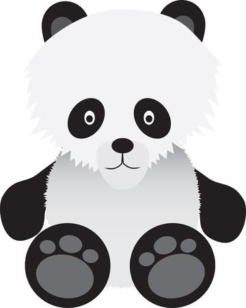 cute cartoon illustration of a baby panda bear