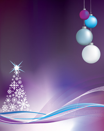 christmas baubles of modern design: christmas illustration with copy space for message or to be used as a background element