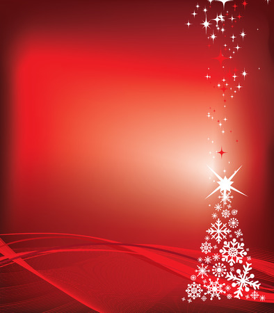 christmas motif: christmas illustration with copy space for message or to be used as a background element