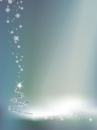silver christmas: christmas illustration with copy space for message or to be used as a background element