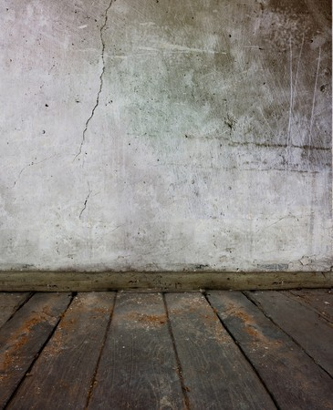 plastered: background texture of a very rough texture plastered wall and wooden floor Stock Photo