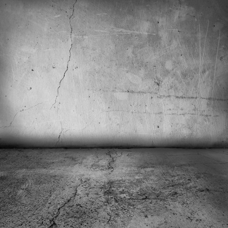simple textured grunge interior of a blank wall and floor photo