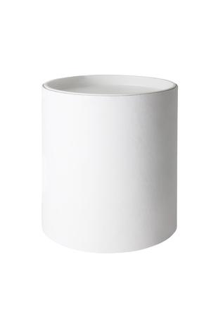 Plain blank white round tub or box isolated on a white background Banco de Imagens