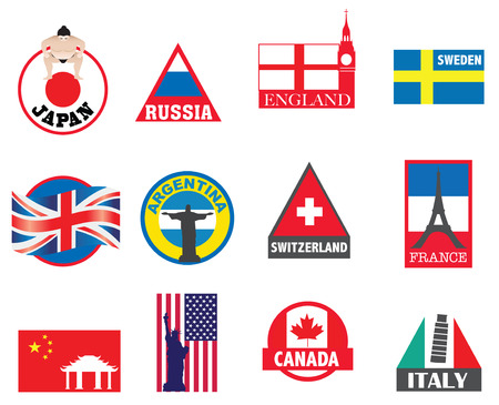 illustration with new designs to represent different countries Stock Vector - 8360113