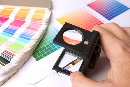 Colour swatches of many colours and colour printing bars Stock Photo - 8443494