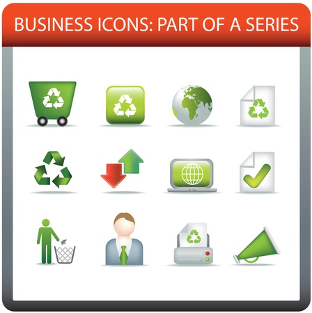 modern business icon set of illustrations representing conservation and recycle and eco themes illustration