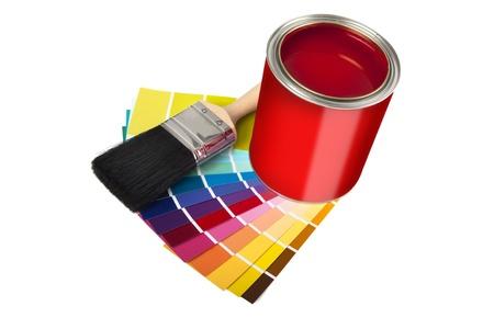 adn: pintura, muestras de adn de paintbrush aislados en un fondo blanco Foto de archivo