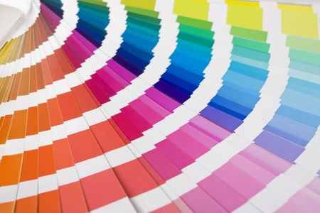colour spectrum of swatches as used by a graphic designer or painter Stock Photo - 8632776