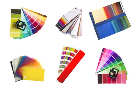 swatches selection for colour, fabric and plastic isolated on a white background Stock Photo - 8706790