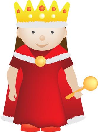 Character Illustration einer Kinder-Charakter-Königin Vektorgrafik