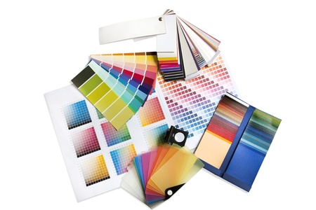 Big group selection of coloured swatches and pantone chips Stock Photo - 8983634