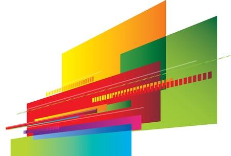 square shape: illustration usind coloured angle blocks as a background texture