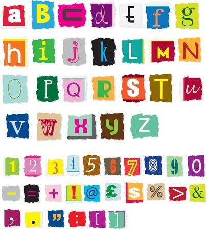 font: diferentes estilos de estilo de rescate dise�ado alfabeto y n�meros Vectores